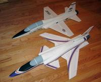 Name: x29-10.jpg Views: 1870 Size: 55.3 KB Description: Here's a size comparison with my T-38 park jet.  Both models are exactly the same size and have 220 sq in wing area.