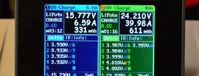 Two charging programs running.