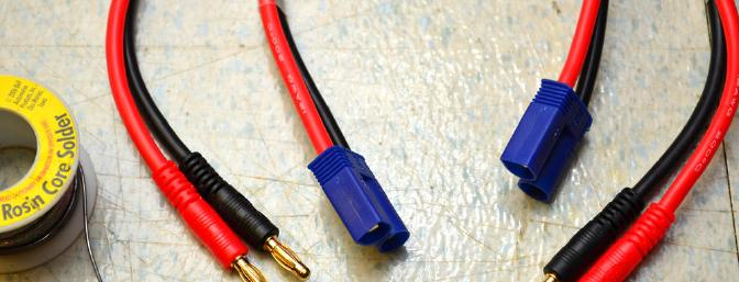 EC5 connectors soldered in place.