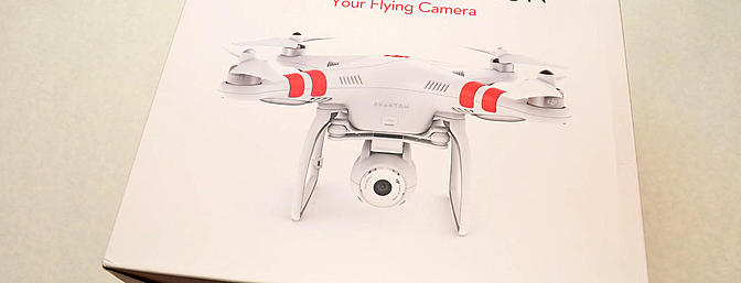 The box of the new Phantom 2 Vision.