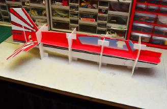 The Fuselage assembled in the Crutch