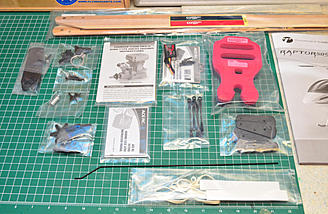 The rest of the parts from the box.