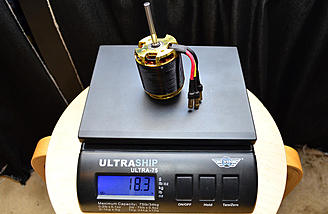 The motor weighs in at 18.3 oz.