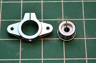 The two piece, clamp style servo horn.