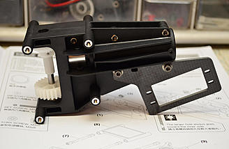 The assembled tail case, ready to be installed.