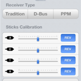 Receiver type and stick calibration.
