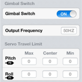 Gimbal settings.