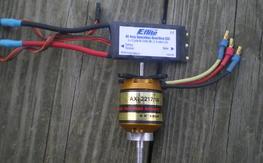 Axi 2217/16  and E-flite 40 ESC
