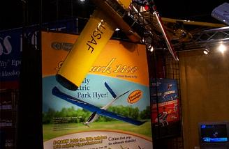 Ace's new E-Hawk 1400 Vspec E-ParkFlier ARF. Balsa construction, UltraCote covering, gel coated fiberglass fuse, with 55