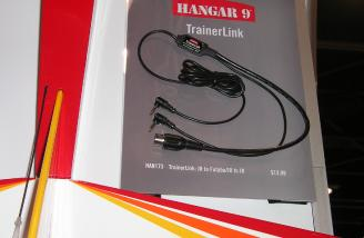 Hangar 9's new trainer cord -- allowing JR master radios to work with Futaba and Hitec student radios for easier trainer support.