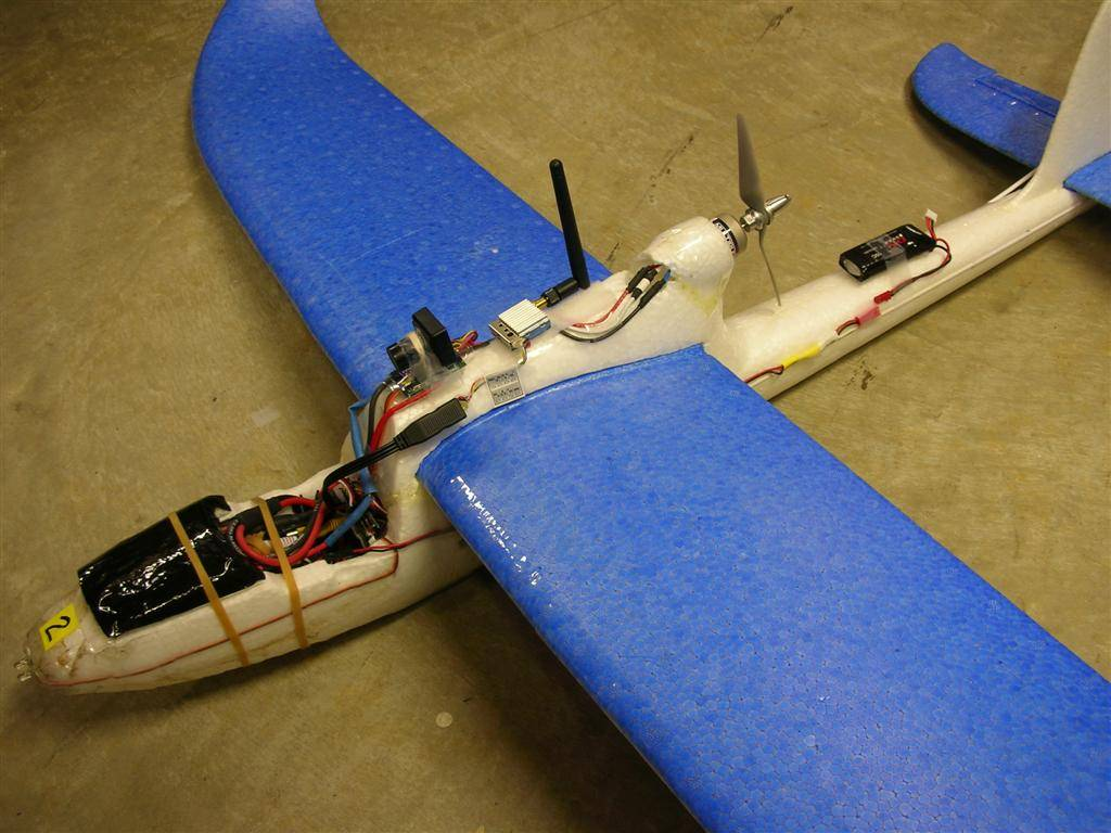 EasyStar RC aircraft, fitted for FPV flying