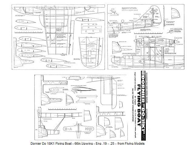 Name: Dornier Do 18K1 Flying Boat - 66in.Upwing - Eng .19 - .25 - from ...