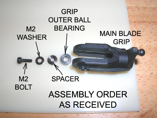 Factory order of assembly.