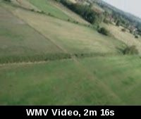 this was my first flight with the ez* without any help from my friend, the only problem was with the electric cattle fence which cut the motor and switched off the video cam