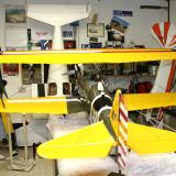Left Rear view of wing and tail rigging. Field assembly takes roughly 10 minutes (if you don't drop a bolt!)