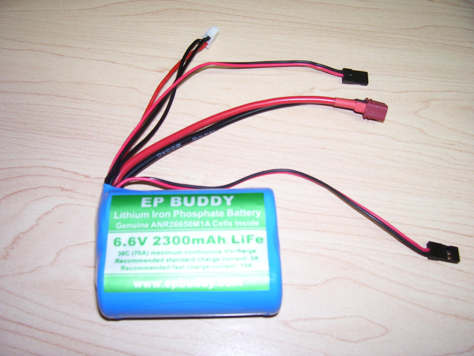 This is my test battery.  EP Buddy 6.6v 2300mAh LiFe