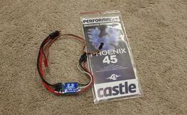 Castle Phoenix 45 amp ESC's, One used, One NIP!