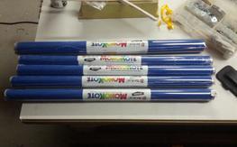 5 rolls of Royal Blue Monokote