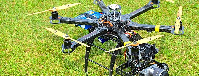 HexaCopter 650mm Frame with HC Brushless Gimbal