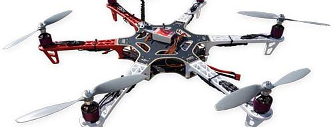 Aero-Model Hand Built/Assembled DJI Flame Wheel F550 HexaCopter Includes