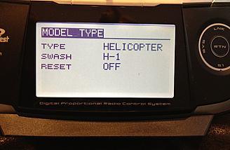 Standard Helicopter Setup Swash H-1