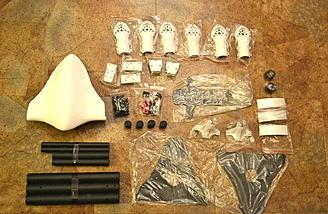 Sky Hero Spy parts laid out