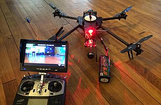 "7"" 5.8 GHZ Diversity Self Powered FPV Monitor doing work with the AD1"