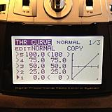 Normal setting throttle curve