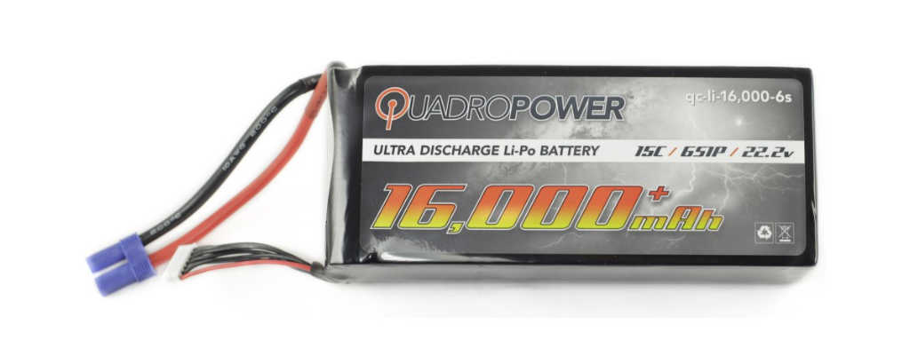 Quadropower 16,000 mAh (6s) Lipo Battery