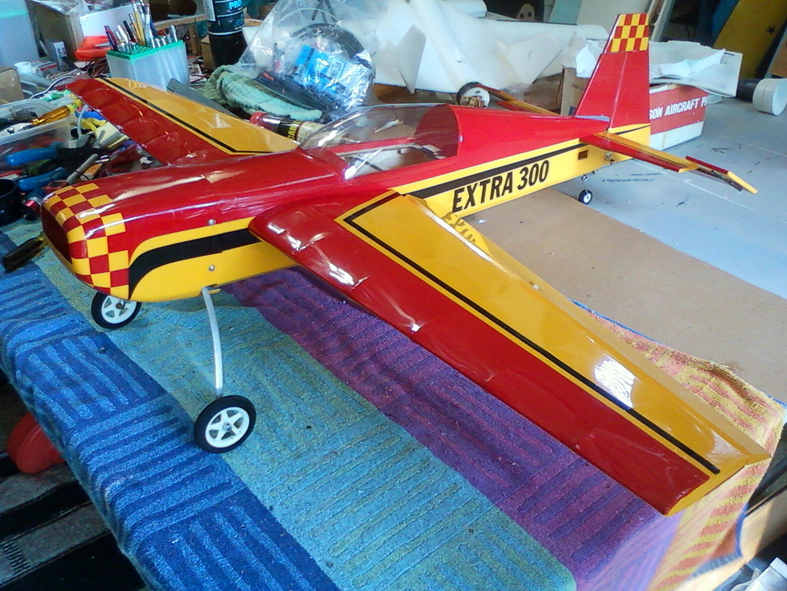 This is a Seagull Extra 300 that a friend gave me for repairing another plane of his. Mostly just needed some cleaning and minor detail work.
