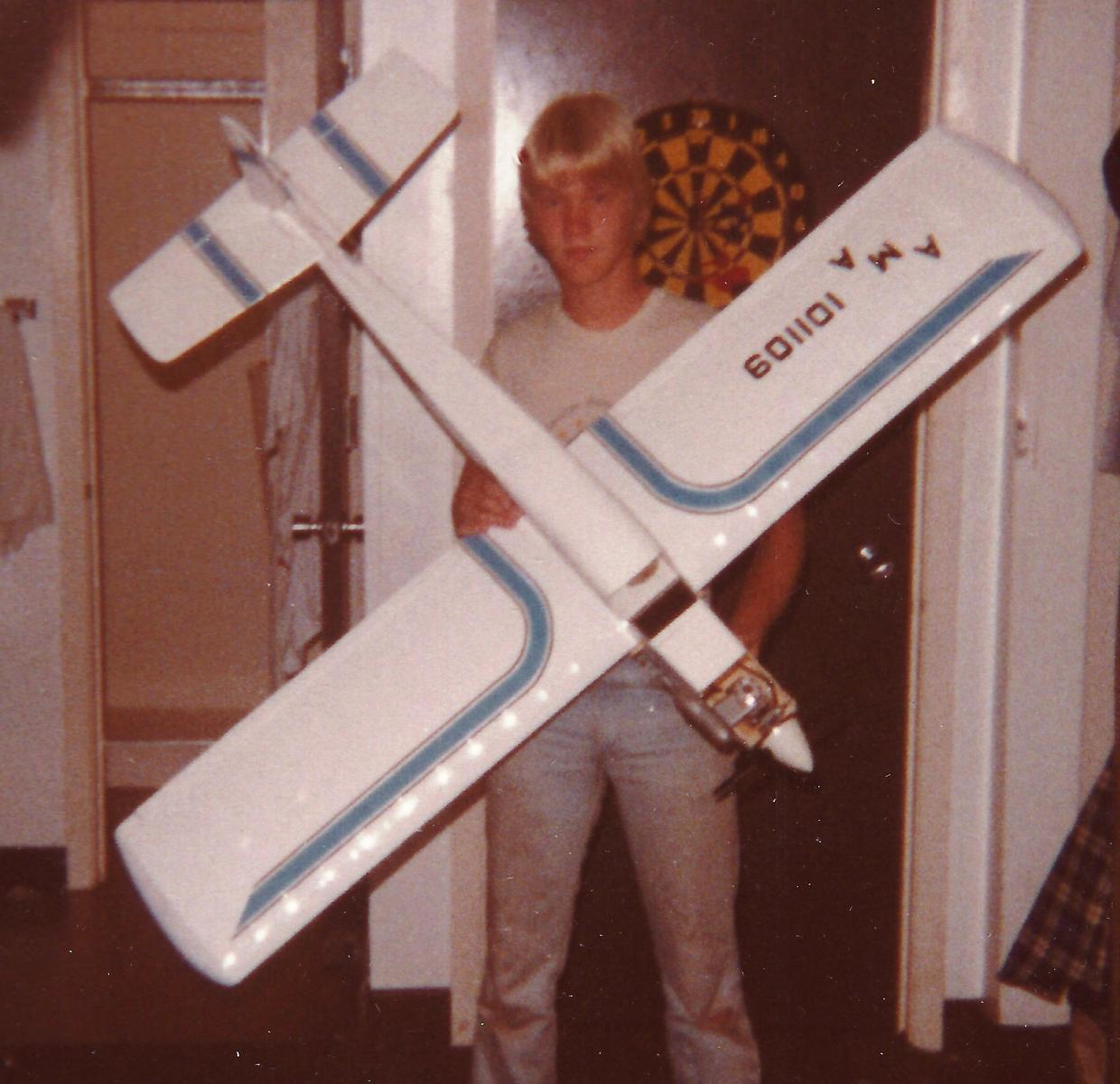 Me, ca. 1984 with the newly built Goldberg Sky Tiger
