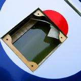 The servo is located in the roundel which helps it