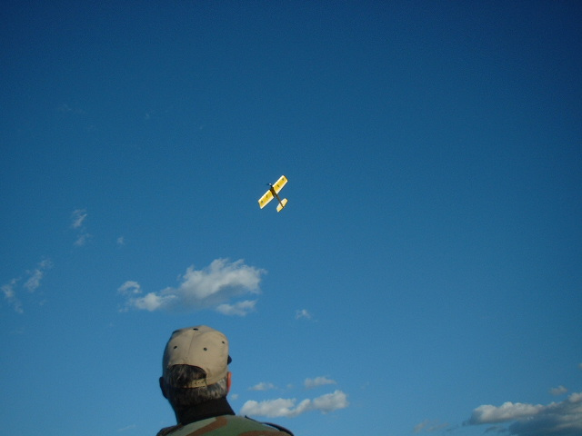 Author showing off a little while doing aerobatics.