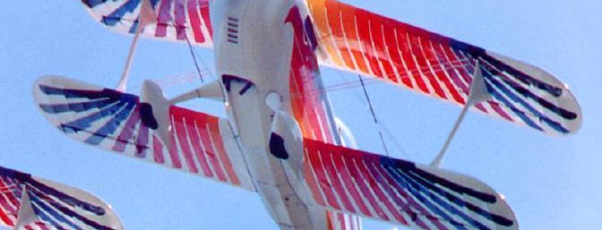 A full scale Eagle roars overhead.