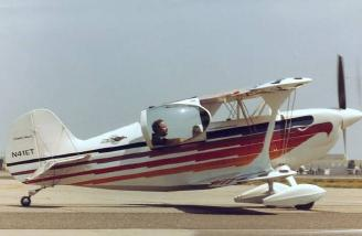 A side view of an Eagle 1 single seater. The bird feather trim varies some from aircraft to aircraft.