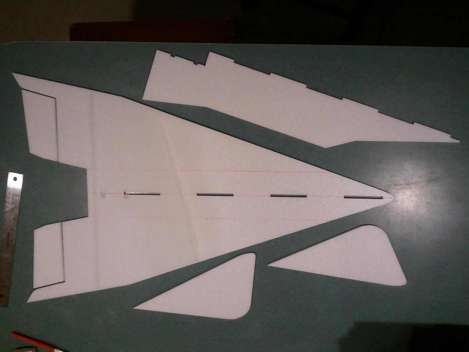 Main structural pieces cut out, could make it a simple profile at this point