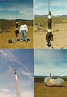 "Name: newv2 (1).jpg Views: 69 Size: 100.4 KB Description: my 5.5"" V-2, 6# my level 2 cert flight.(1996)"