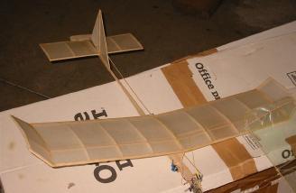Del Ogrin�s RC glider.