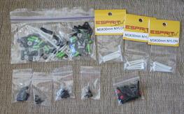 Misc. grab bag nylon hardware & standoffs