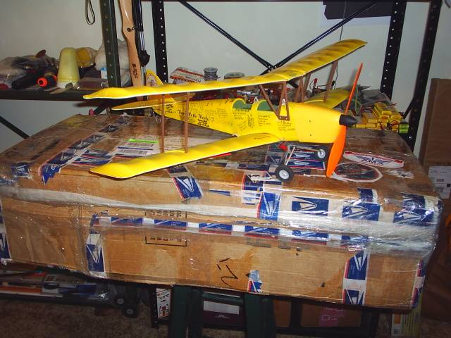 World Tour Tiger Moth, in my shop, awaiting it's flight at the York County Flyers club field.