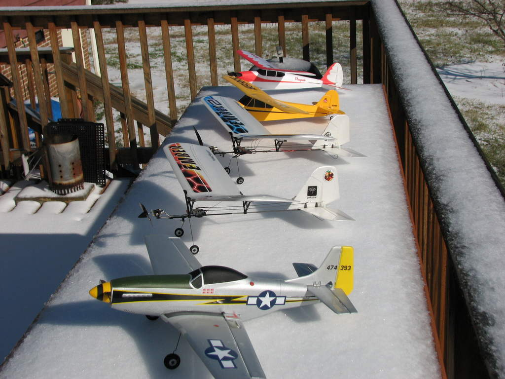 Some of the WWAerodrome Micro Fleet, representing the specific models within the group.