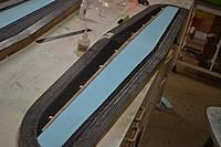 Name: 20150310_220716.jpg Views: 26 Size: 125.7 KB Description: Main spar in position - little blocks of balsa tacked down with CA work well.