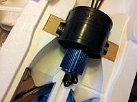 Name: 42 CS12 Motor mounted and wires down hole.jpg