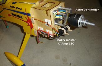 Hacker Master ESC and Actro 24-4 Motor.