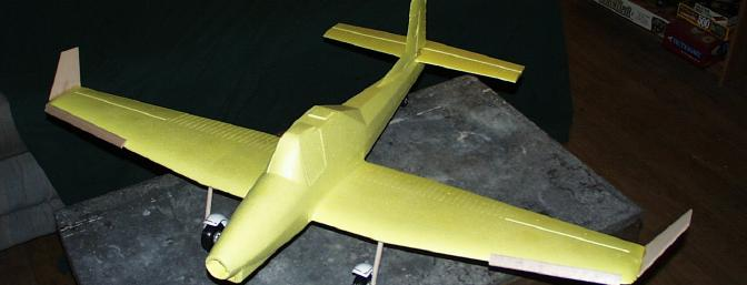 The completed plane, sans motor