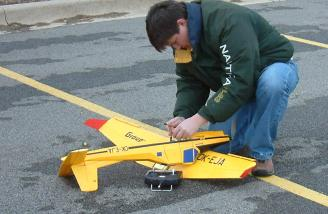 Readying the Agro Turbo for flight.