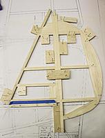 Name: Fin-Rudder Build 2.jpg Views: 25 Size: 250.8 KB Description: Rudder and fin spars have hinge slots made, spars are taped together like the stab/elevator.