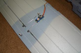 I used Du-Bro micro connectors for the aileron linkages to the servo.