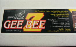 Hobby Hanger Gee Bee Z by Adrian Page NIB