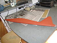 Name: DSC00300.jpg Views: 204 Size: 38.8 KB Description: El Jart, rojo de la ira..  mas bien totalmente cubierto con una capa �nfima de masilla roja y dej�ndola secar toda la noche para su lijado posterior.